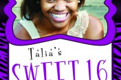 Talia Sweet 16 Invitation
