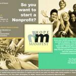 Hope Manifest Non-profit Flier
